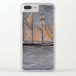 Tall Ship in Boston Clear iPhone Case