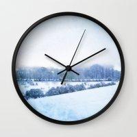blanket Wall Clocks featuring Blanket by Astrid Ewing