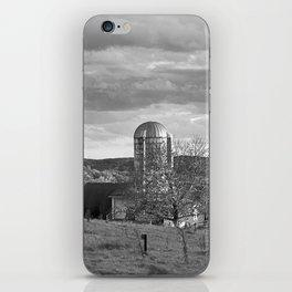 Cloudy Sky over Farm iPhone Skin