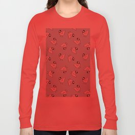 the happy french hen in bakery blue Long Sleeve T-shirt