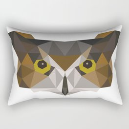 Owl head geometric polygon gift idea hipster Rectangular Pillow