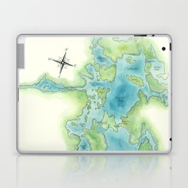 Go Home Lake - Nature Map Laptop & iPad Skin