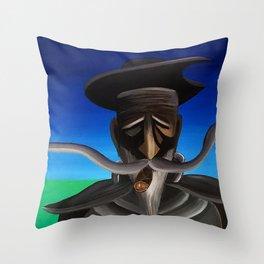 Don Quixote con Puro Throw Pillow