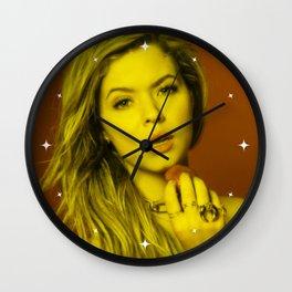 Sasha Peters - Celebrity (Florescent Color Technique) Wall Clock