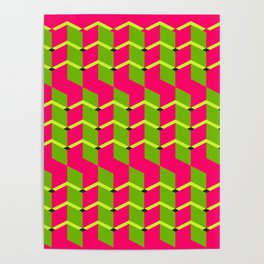 lozenge squiggly A breakthrough towards the futureexcellent choice;Fashion Spring Poster