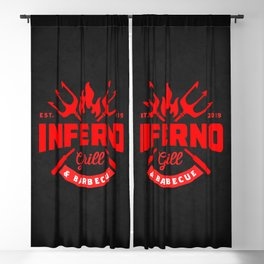 Inferno Grill and Kitchen Blackout Curtain