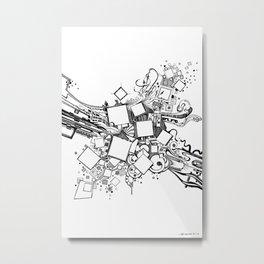 Number One Box - Pen & Ink Illustration Metal Print