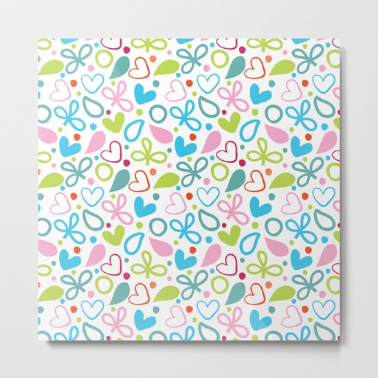 Colorful Lovely Pattern XII Metal Print