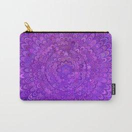 Purple Mandala Bird Feathers Carry-All Pouch