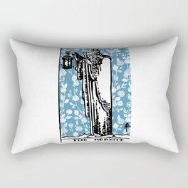 The Hermit - A Floral Tarot Print Rectangular Pillow