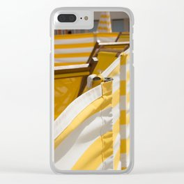 Yellow Summer Clear iPhone Case