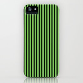Green Flash and Black Stripes iPhone Case