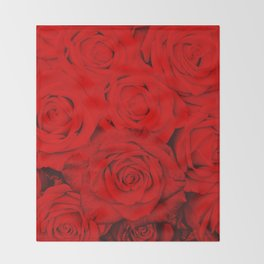 Some people grumble- Floral Red Rose Roses Flowers Throw Blanket