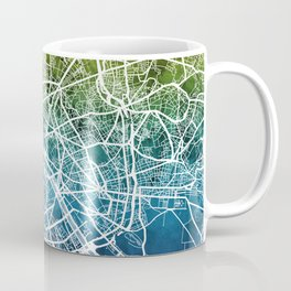 Paris France City Street Map Coffee Mug