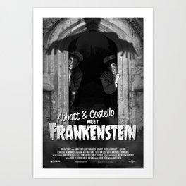 Abbott & Costello Meet Frankenstein Art Print