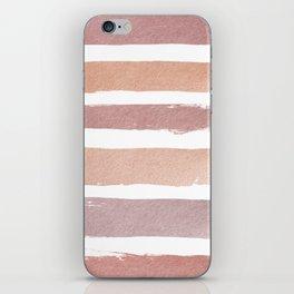 Dusty Rose Stripes iPhone Skin