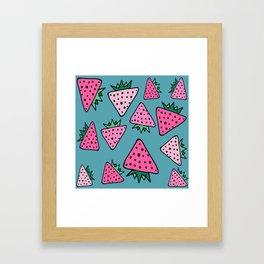 strawberry blue Framed Art Print