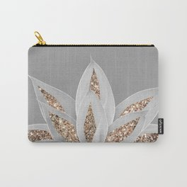 Gray Agave with Gold Glitter #1 #shiny #tropical #decor #art #society6 Carry-All Pouch