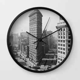 Flatiron Building - Vintage New York - 1908 Wall Clock