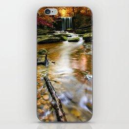 an autumnal welsh waterfall iPhone Skin