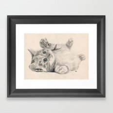 Rub my belly... Framed Art Print