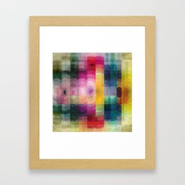 Pattern circle Framed Art Print