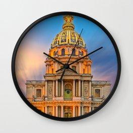 Dome church in Paris Wall Clock