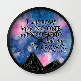 ACOMAF - Bow before no one Wall Clock