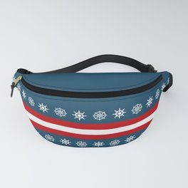 Compass and sailing wheel Fanny Pack