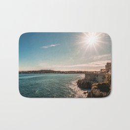 Seacoast of Antibes in a sunny winter day Bath Mat