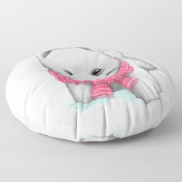 Winter Spitz Floor Pillow