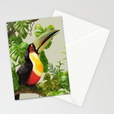 Toucans and Bromeliads (Canvas Background) Stationery Cards