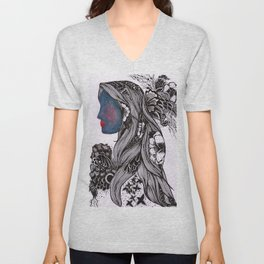 Warmth and Flowers! Unisex V-Neck