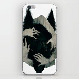 Wolf dark iPhone Skin