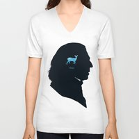 snape V-neck T-shirts featuring Always by Duke Dastardly