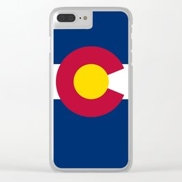 Colorado flag - High Quality image Clear iPhone Case
