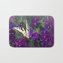 Butterfly and Petunias Bath Mat