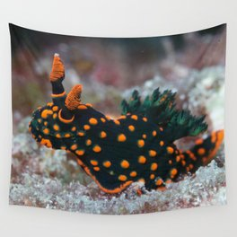 Orange-spotted Nembrotha Monster Nudibranch Wall Tapestry