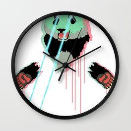 Panda with F$%king Lazers Wall Clock