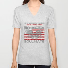 He is my Hero - Soulmate Unisex V-Neck