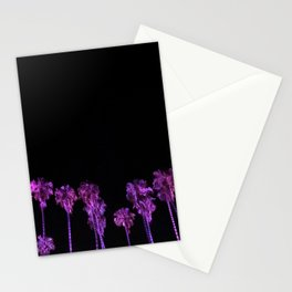 Purple Palm Trees - Palms Reflecting in Your Eyes Stationery Cards