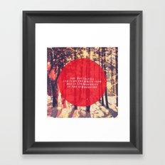 Fleet Foxes - White Winter Hymnal Framed Art Print