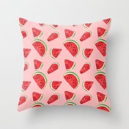 Watermelon Pattern Pin Throw Pillow