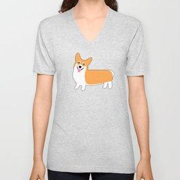 Crazy Corgis Cute Puppy Dog Pattern Unisex V-Neck