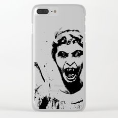 Weeping Angel Watercolor Doctor Who Art Clear iPhone Case