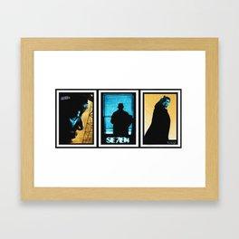 SE7EN TRIPTYCH Framed Art Print