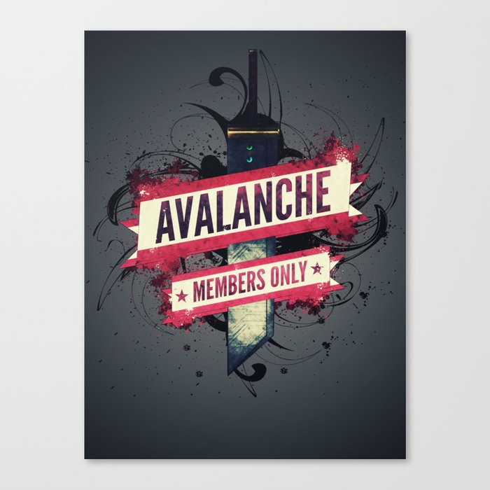 Final Fantasy VII - Avalanche Member's Only Canvas Print