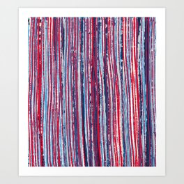 Red & Blue Stripes Art Print
