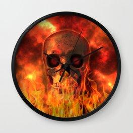 Burning Soul Wall Clock
