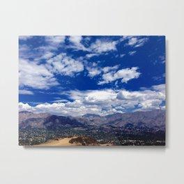 Clouds over San Gabriel Mountains Metal Print